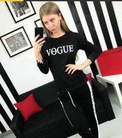 vogue pullover groihandel-2019 VOGUE 0-Cuello sudadera + pantalón largo de retazos conjunto de 2 unidades