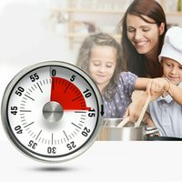 Wholesale kitchen timer alarm mechanical resale online - Baldr cm Mechanical Countdown Stainless Steel Magnetic Timer Cooking Time Reminder Clock Alarm Practical Kitchen Tools MMA2523 A1