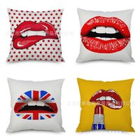 Wholesale sexy red pillows for sale - European Sexy Flax Pillow Imitate Hold Ma Pillow Case Automobile Sofa Back Cushion Cushion Bedside Backrest Pillow