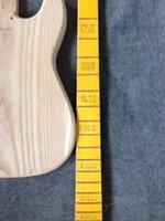 Wholesale guitar neck part resale online - Factory sell ASH body PB Bass guitar body and neck no including parts guitar kits
