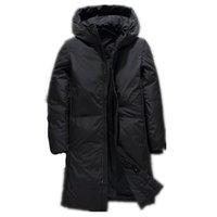 pato largo abajo chaqueta macho al por mayor-Cálida chaqueta de invierno gruesa hacia abajo Hombres Ropa de la marca de calidad superior X -A largo blanco masculino pato abajo cubren tamaño M-3XL