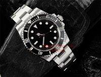 v8 negro al por mayor-Top fábrica V8 Mejor Edición 114060 No Fecha de lujo del reloj automático ETA 2836 Movimiento Negro Dial bisel de cerámica Relojes de pulsera Relojes para hombre
