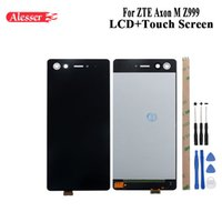 сенсорный экран дисплея lcd телефона оптовых-Alesser For ZTE Axon M Z999 LCD Display and Touch Screen Assembly Repair Parts With Tools And Adhesive For ZTE Axon M Z999 Phone