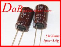 capacitor original venda por atacado-250 v 47uf 100% Original Novo Capacitor Capacitor Eletrolítico NI-PPON CHEMI-CON NCC Radial 13x20mm