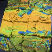 Wholesale square scarves china resale online - Qian Li Jiangshan Gift m Big Square Scarf Silk China Wind