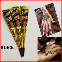 indische henna tattoo paste großhandel-Black Indian Henna Tattoo Paste Körperbemalung Mini Natural Henna Paste für Körperzeichnung Temporäres Zeichnen auf Körper