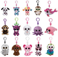 Wholesale new ty toys resale online - Ty Beanies Keychains Ty Beanie Plush Toys TY Plush Pendants Unicorn Plush Toys Stuffed Animals Dolls Boos Marcel TWIGGY Owl