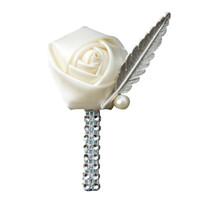 mens çiçek yaka iğneleri toptan satış-2019 Yeni 20 Renkler Çiçek Yaka Pin Erkek Düğün Yaka Çiceği El Yapımı Düğün Broş Yaka Çiceği İlik Mamülleri Yaka Çiceği