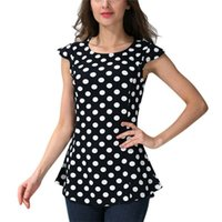 Wholesale dots maternity clothes for sale - Group buy Trendy women Pregnant Maternity Clothes Nursing round neck Polka Dot vest Mom Breastfeeding Polyester Tank Tops one pieces