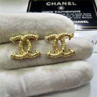 brincos de camada dupla venda por atacado-Clássico Moda Duplo Layers Letters Ear Studs Crystal Clear Rhinestone brincos banhado a ouro Brinco de Prata Mulheres menina Jewelr casamento