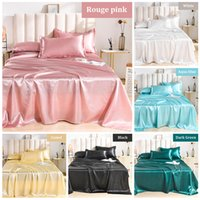 Wholesale silk sheets for sale - Group buy Summer Bed sheet Luxury Satin Silk Bed sheets