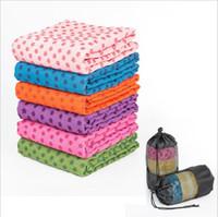 toalha de esteira de ioga antiderrapante venda por atacado-Espessado tapete de yoga cobertor toalha tapete retangular cobertor do sofá Tapetes Absorvente yoga toalha anti-derrapante superfície de microfibra YSY132