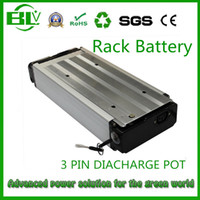 Wholesale bike battery rack for sale - Group buy 48V AH W Rack Luggage Ebike battery for Electric Bicycle Electric bike with charger USA EU Free ship no tax