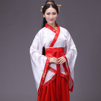 vestidos de baile de hadas al por mayor-Ropa étnica Disfraces chinos Disfraces de baile de hadas Vestido Tren y drama Disfraces Disfraz de estudiante Graduación Ceremonia de Sdult