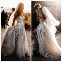 Wholesale cheap wedding dresses for sale - Group buy 2019 Arabic Sexy Cheap Lace Beach Wedding Dresses Sweetheart Beaded High Split Bridal Dresses Vintage Wedding Gowns ZJ2354