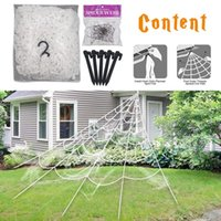 Wholesale web toys resale online - Spider Web Haunted House Hanging Super Large Tricky Toy Halloween Decoration Outdoor Party Triangle Net DIY Knotted Simulation