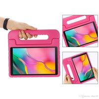 Wholesale kids tablet case handle resale online - Kids Children Handle Stand EVA Foam Soft Shockproof Tablet Case For Samsung TAB A inch P200 P205