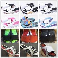 blaue sandalen schuhe groihandel-13 13s Hydro Slides Hausschuhe Hydro IV 4 4s Slides Schwarze Sandalen Jumpman 11 11s Blau Schwarz Weiß Rot Basketballschuhe Casual Sports Sneakers