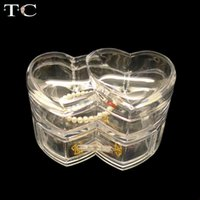 Wholesale shelf lipstick for sale - Group buy Heart shaped Jewelry Box Cosmetics Transparent Acrylic Lipstick Jewelry Box Display Shelf Color Makeup Storage