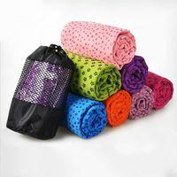 toalha de esteira de ioga antiderrapante venda por atacado-5 Cor 183 cm * 61 cm Multifuncional Antiderrapante Capa Anti Patim Microfibra Yoga Mat 72 '' x 24 '' Loja de Toalhas Q