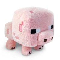 filme de porco rosa venda por atacado-Minecrafted Brinquedos 16 cm Minecrafter Rosa Porco Recheado de Brinquedos de Pelúcia Boneca Jogo Dos Desenhos Animados Filmes TV MC Jogo Brinquedo Macio para o Presente Dos Miúdos