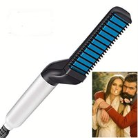 Wholesale ironing hair brush for sale - Group buy Beard Straightener Brush Electric Hair Comb For Mens Hair Straightener Hair Styling Brush Portable Anti Scald Beard Iron Gift For Men
