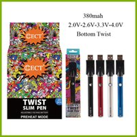 Wholesale oils displays resale online - ECT cos vv mah bottom twist variable voltage preheat battery charger kit with display box for thick oil vape cartridges