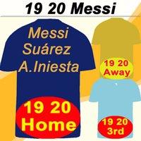 fußball jerseys messi großhandel-19 20 Barcelona MESSI GRIEZMANN Heim Auswärts 3. Herren-Fußballtrikots 18 SUAREZ PIQUE COUTINHO DEMBELE Fußballtrikots RAKITIC F. DE JONG Kurze Uniformen