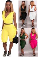 Wholesale hot black women yoga pants resale online - Womens outfits short sleeve piece set tracksuit jogging sportsuit shirt short legging outfits sweatshit pants sport suit hot klw0428