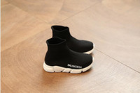 chaussettes de sport bébé garçon achat en gros de-Chaud! 2019 printemps et automne nouveaux enfants chaussettes élastiques chaussures filles garçons respirant chaussures de sport étudiants bébé bébé chaussures