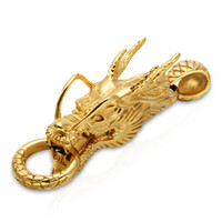 Wholesale Jewelry Findings Components New Fashion Vintage High Quality Stainless Steel Dragon Style Charms For Necklace