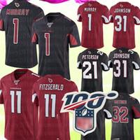 футбол фитнесс оптовых-1 Кайлер Мюррей Джерси Аризона 11 Трикотажные изделия Larry Fitzgerald Cardinals