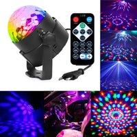 светочальный клуб оптовых-3 Вт Мини RGB Кристалл Волшебный Шар Звук Активированный Диско-Шар Сценическая Лампа Lumiere Рождество Лазерный Проектор Dj Club Party Light Show