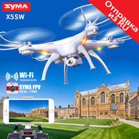 actualizar x5c camara al por mayor-SYMA X5SW Drone con cámara WiFi Transmisión en tiempo real FPV Quadcopter Quadrocopter (actualización X5C) Cámara HD Dron 4CH RC Helicopter