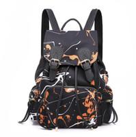 ingrosso borsa dello zaino di stile coreano-Zaino Borsa da donna in nylon stile coreano Doodle da donna Borsa Zaino Borsa per adolescenti Zaini per il tempo libero Zaino femminile
