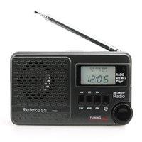 ingrosso sd input-Retekess TR601 Radiosveglia digitale DSP FM AM SW Altoparlante ricevitore radio con lettore MP3 Supporto Micro SD Card Ingresso audio USB