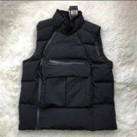 colete de jaqueta de esporte venda por atacado-Mens Grosso Down Vest Esporte Designer inverno colete de veludo Turtle Neck Marca Quente revestimento do revestimento Sideway Zip camisola Blusa Parka B101160L