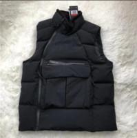 ingrosso maglia giacca sportiva-Mens Spesso Giù Vest Sport Designer invernale Gilet Velluto Collo rivestimento di marca cappotto caldo Sideway Felpa Zip camicetta Parka B101160L