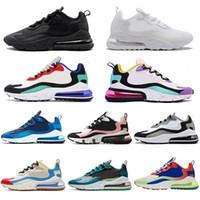 koşu ayakkabıları koşu koşusu toptan satış-2020 Nike Air Max 270 React run hava erkekler için koşu ayakkabıları tepki kadın tenis Ağartılmış Mercan Pembe Bauhaus HYPER JADE üçlü beyaz siyah spor sneakers 36-45
