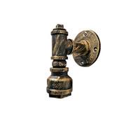 eski su boruları toptan satış-Loft Endüstriyel Demir Su Borusu Duvar Lambası Eski E26 / E27 Oturma Odası Başucu Kapalı Fikstür için LED Aplik Duvar Işıkları aydınlatma