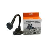 Wholesale black cup suckers for sale - Group buy Phone Holders Strong Suction Cup Car Phone Holder Magnetic Car Mounts Long Arm Stands Sucker Bracket degree Rotatable Windshield Support