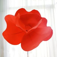 Wholesale shopping window display resale online - Giant Artificial Poppies PE Big Foam Flower Head Shop Window Display Flower Wedding Road Lead Flower Party Stage Decoration