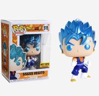 ingrosso grande figura di azione testa-Funko Pop Dragon Ball SSGSS VEGITO 515 # Vinyl Action Figures Collezione Brinquedos Modello Giocattoli per regalo per bambini