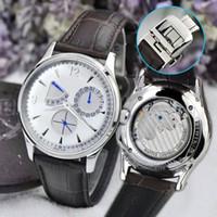 relojes mecánicos ultra delgados al por mayor-2019 AH fábrica de calidad superior serie ULTRA THIN relojes de lujo para hombre relojes mecánicos automáticos 40 horas de reserva de energía reloj de pulsera impermeable