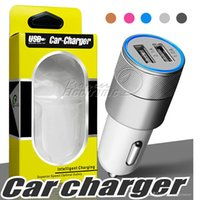 Wholesale au 4s chargers for sale – best Metal Car Charger Newest Design Dual USB car chargers Portable Travel Fast Chargers Auto Adapter for Apple iPhone Plus S S