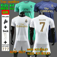 Wholesale soccer kit jersey uniforms for sale - Group buy New Real Madrid Soccer Jerseys HAZARD JOVIC MILITAO Soccer shirt MODRIC ASENSIO VINICIUS JR ISCO KROOS kids Football uniform kit