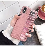 Wholesale new box cell phones for sale – best New Eye Shadow Box Cell Phone Case For iPhone X XR XS Max IMD Silicone Phone Back Cover For Iphone Plus