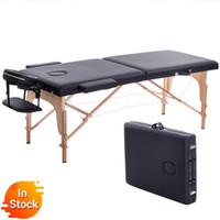 Wholesale beauty bedding for sale - Group buy Folding Beauty Bed cm length cm width Professional Portable Spa Massage Tables Foldable with Bag Salon Furniture Wooden