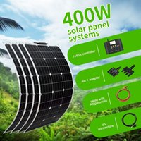 Wholesale car mp3 mp4 phone resale online - 400W Flexible Solar Panel kit Mono for V V Battery Car RV Home Outdoor Power Charging