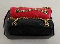 eski gümüş zincirler toptan satış-3As En kaliteli Klasik Deri crossbody çanta altın gümüş zincir sıcak satmak yeni kadın marmont çanta çanta omuz çantaları tote çanta messenger